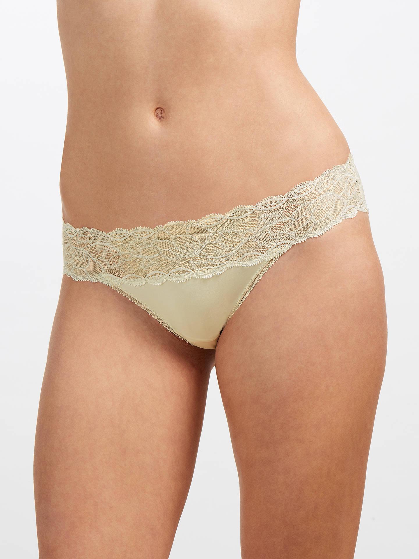 e1b74db406d1 Buy Calvin Klein Underwear Seductive Comfort Lace Bikini Briefs, Ivory, M  Online at johnlewis ...