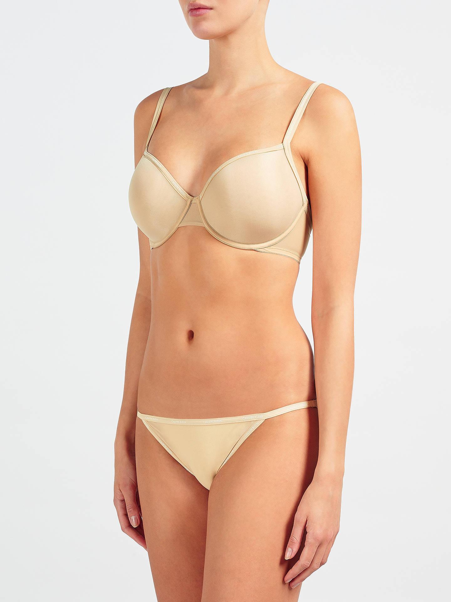 adaffa9af19 Buy Calvin Klein Underwear Sheer Marquisette Demi Underwired Bra