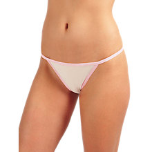 Buy Calvin Klein Underwear Sheer Marquisette Thong, Nymph Online at johnlewis.com