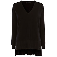 Buy Karen Millen Panelled Fabric Jumper, Black Online at johnlewis.com