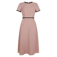 Buy Hobbs Maria Dress,  Camelia Pink/Black Online at johnlewis.com
