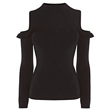 Buy Coast Natalie Cold Shoulder Jumper, Black Online at johnlewis.com