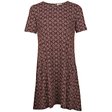 Buy Fat Face Simone Stitching Star Dress, Ganache Online at johnlewis.com
