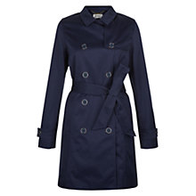 Buy Hobbs Diana Trench Coat, Navy Online at johnlewis.com