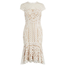 Buy Coast Dee Dee Lace Dress, Neutral Online at johnlewis.com