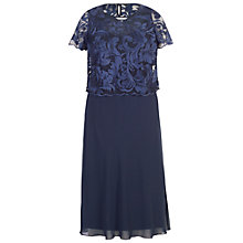 Buy Chesca Scallop Embroidered Mesh Dress, Navy Online at johnlewis.com