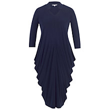 Buy Chesca Notch Neck Drape Jersey Dress, Navy Online at johnlewis.com