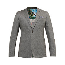 Buy Ted Baker Cram Herringbone Blazer, Grey Online at johnlewis.com