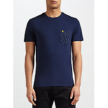 Buy Lyle & Scott Paint Dot Print Pocket T-Shirt, Navy Online at johnlewis.com