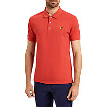 Buy Lyle & Scott Marl Polo Shirt, Flame Red Marl Online at johnlewis.com