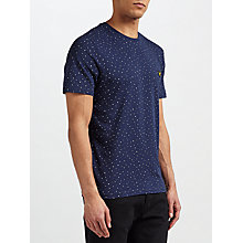 Buy Lyle & Scott Allover Paint Dot T-Shirt, Navy Online at johnlewis.com
