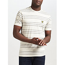 Buy Lyle & Scott Double Stripe T-Shirt, Light Grey Marl Online at johnlewis.com