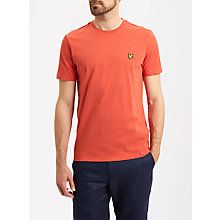 Buy Lyle & Scott Plain Crew Neck T-Shirt, Flame Red Marl Online at johnlewis.com