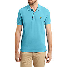Buy Lyle & Scott Marl Cotton Polo Shirt, Pacific Blue Marl Online at johnlewis.com