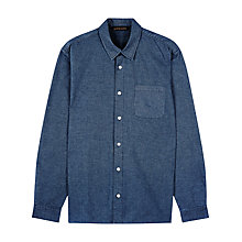 Buy Jaeger Horizontal Stripe Overshirt, Navy Online at johnlewis.com