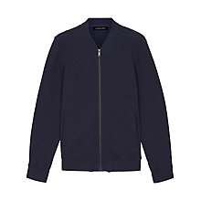 Buy Jaeger Quilted Bomber Jacket, Navy Online at johnlewis.com