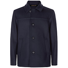 Buy Jaeger Wool Blend Donkey Jacket, Navy Online at johnlewis.com