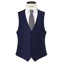 Buy John Lewis Sharkskin Super 120s Wool Regular Fit Waistcoat, Blue Online at johnlewis.com