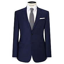 Buy John Lewis Sharkskin Super 120s Wool Regular Fit Suit Jacket, Blue Online at johnlewis.com