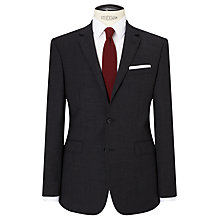 Buy John Lewis Textured Super 100s Wool Tailored Suit Jacket, Charcoal Online at johnlewis.com