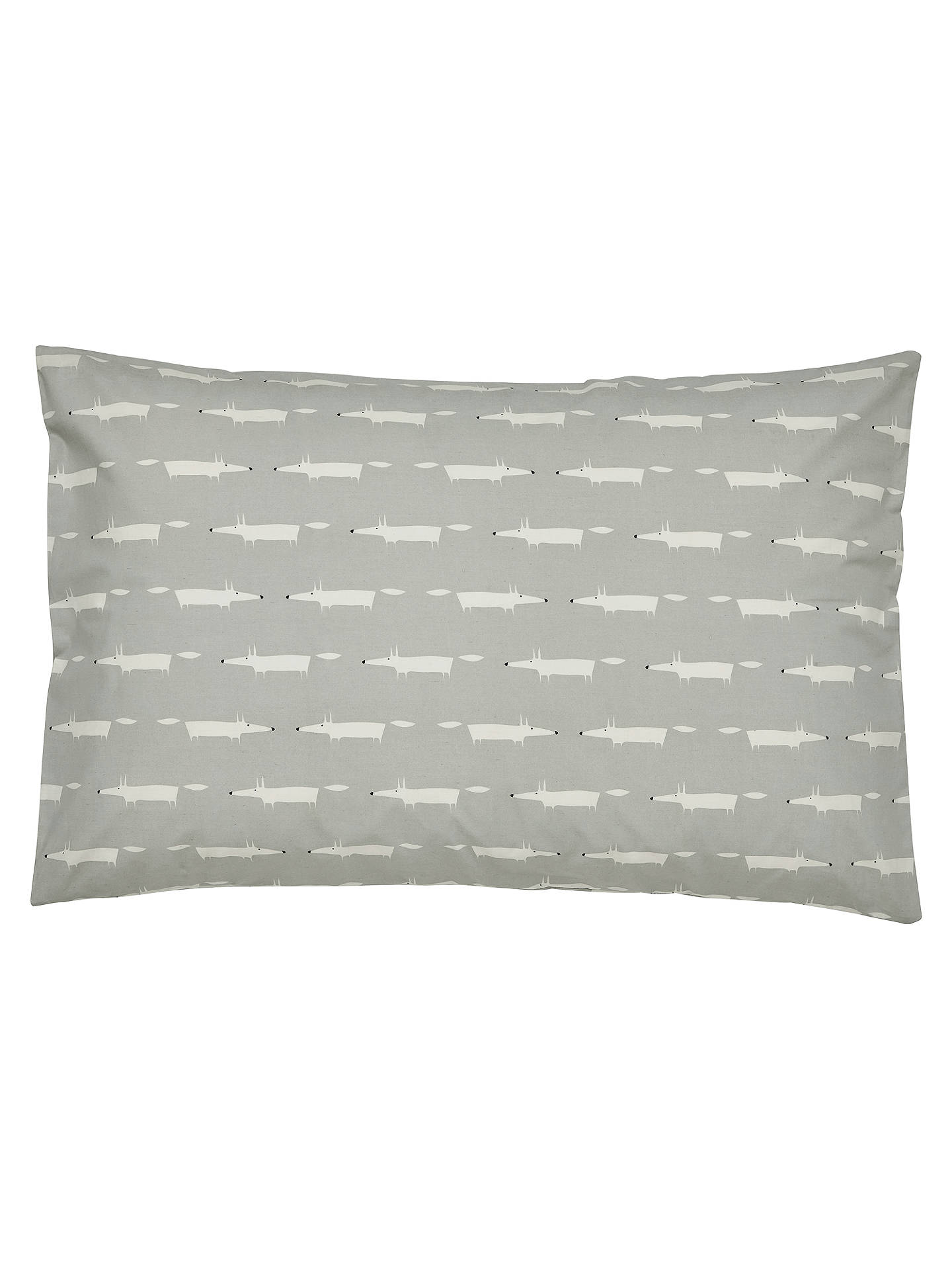 Buy Scion Mr Fox Cotton Standard Pillowcase Pair, Silver Online at johnlewis.com