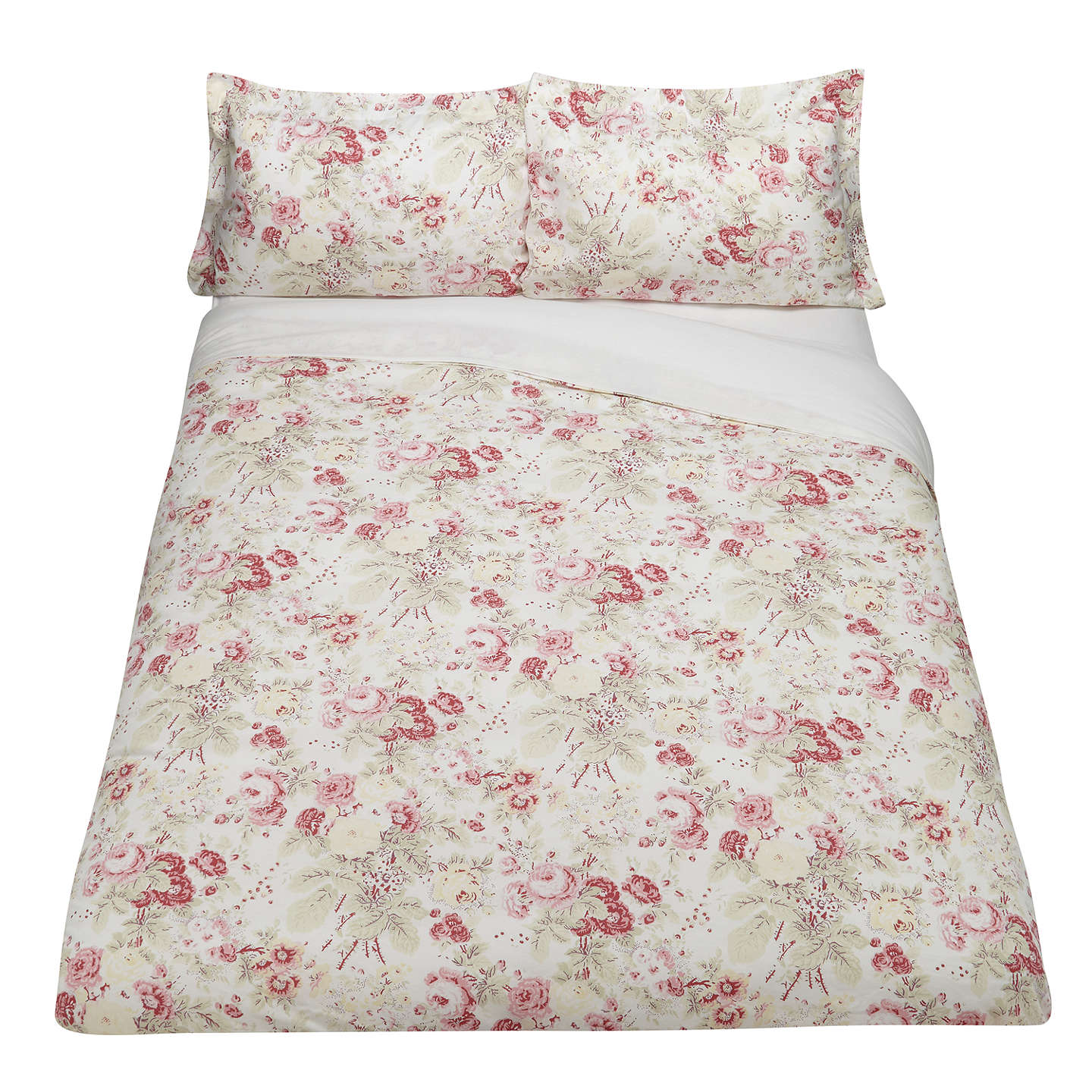 BuyCabbages & Roses Vintage Francis Print Cotton and Linen Oxford Pillowcase Online at johnlewis.com