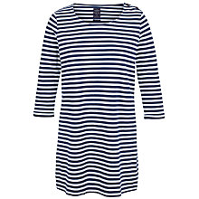 Buy Fat Face Woolacombe Longline Top, Indigo Online at johnlewis.com