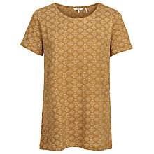 Buy Fat Face Newlyn Stitching Stars Top, Golden Sand Online at johnlewis.com