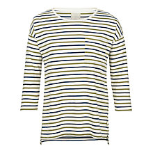 Buy Fat Face Harriet Stripe Top, Ivory Online at johnlewis.com