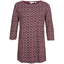 Buy Fat Face Freesia Stitching Star Top, Ganache Online at johnlewis.com