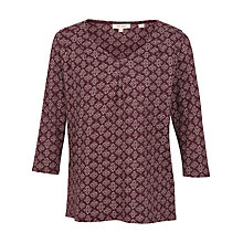 Buy Fat Face Poole Stitching Star Top, Ganache Online at johnlewis.com