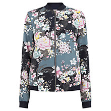 Buy Oasis Lotus Print Bomber Jacket, Multi Online at johnlewis.com