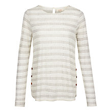 Buy Fat Face Tulip Mark Making Top, Ivory Online at johnlewis.com