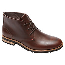 Buy Rockport Ledgehill Leather Lace Up Boots, Brown Online at johnlewis.com