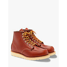 Buy Red Wing Moc Oro-russet Portage Toe Boot, Red Online at johnlewis.com