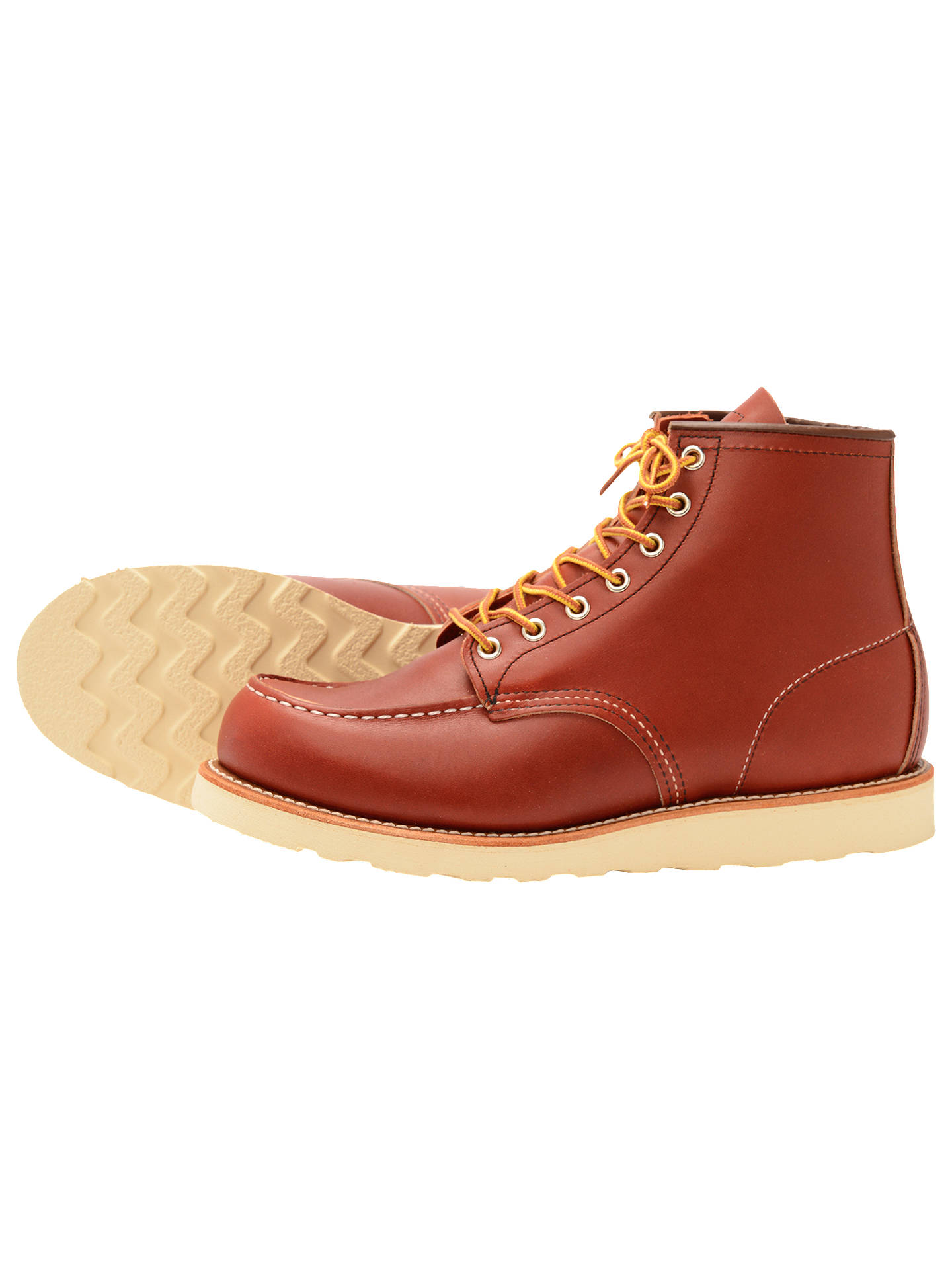 BuyRed Wing 8131 Moc Oro-russet Portage Toe Boot, Red, 7 Online at johnlewis.com