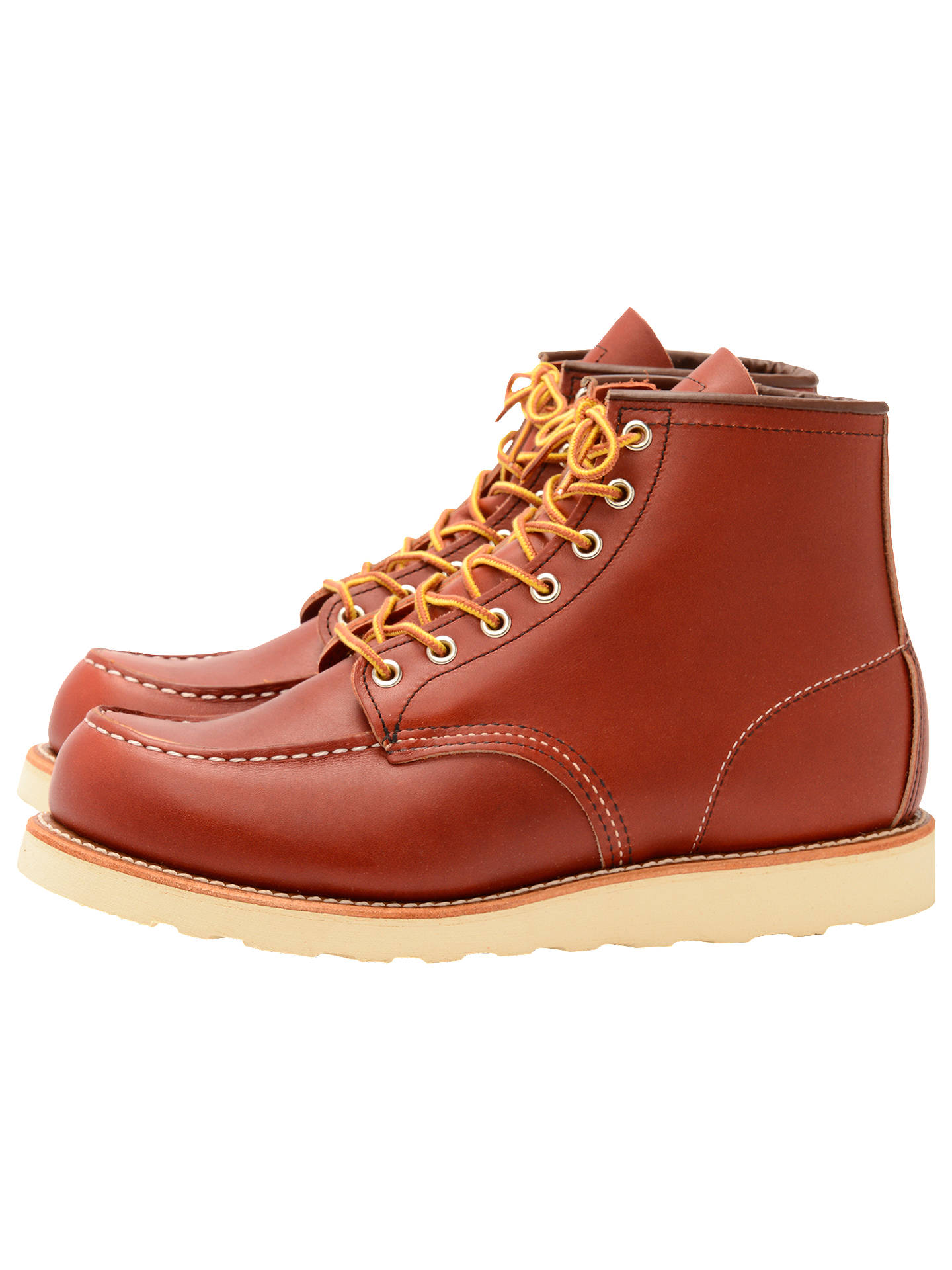 3b0fc1b8853 Red Wing 8131 Moc Oro-russet Portage Toe Boot, Red