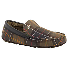 Buy Barbour Monty Tartan Slippers, Green Online at johnlewis.com