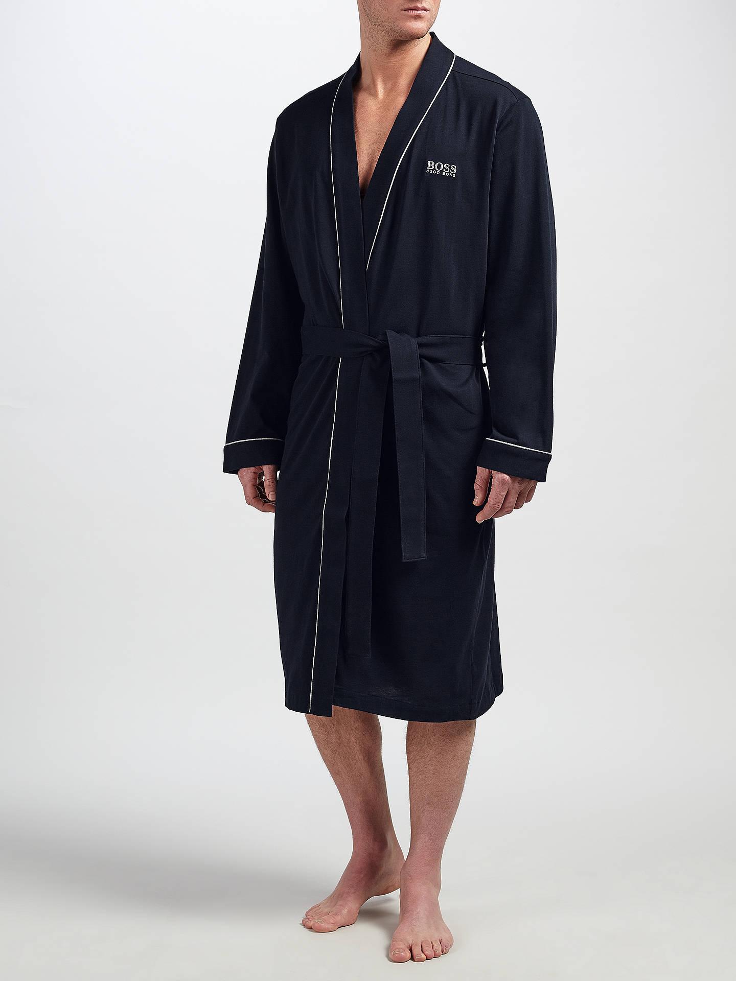 aa1c145122b3 Buy BOSS Kimono Robe, Navy, M Online at johnlewis.com ...