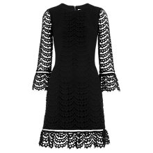 Buy Whistles Valentina Dress, Black Online at johnlewis.com