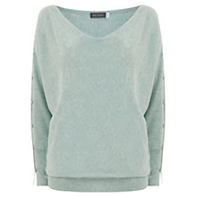 Buy Mint Velvet Split Sleeve Batwing Knit, Green Online at johnlewis.com