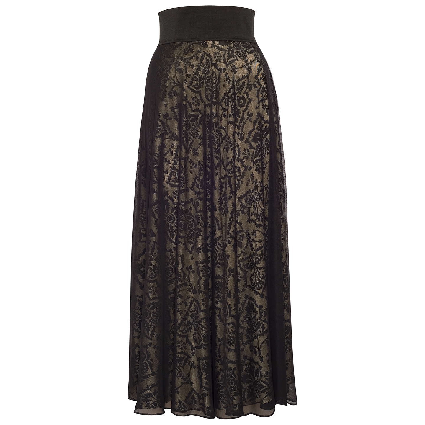 BuyChesca Devoree Mesh Skirt, Black/Gold, 12-14 Online at johnlewis.com