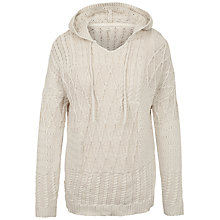 Buy Fat Face Tenley Patchwork Knitted Hoodie Online at johnlewis.com