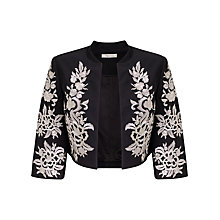 Buy Precis Petite Daphne Embroidered Jacket, Black/Multi Online at johnlewis.com