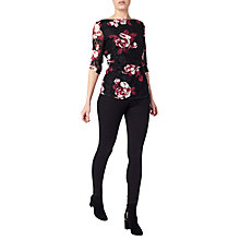 Buy Precis Petite Dana Printed Lace Top, Black/Multi Online at johnlewis.com