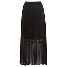 Buy Coast Amira Lace Pleated Skirt, Black Online at johnlewis.com