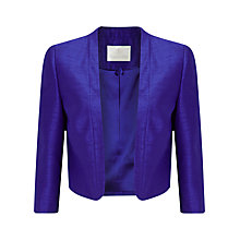 Buy Jacques Vert Shantung Bolero, Mid Blue Online at johnlewis.com