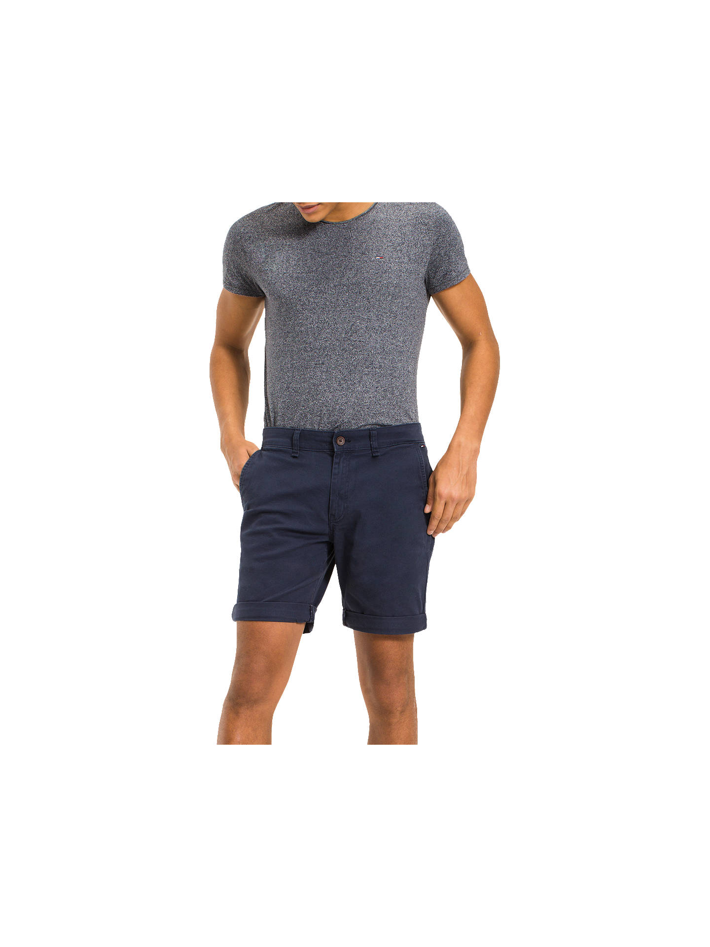 845226c4 Buy Tommy Jeans Freddy Chino Shorts, Black Iris, 30R Online at  johnlewis.com ...