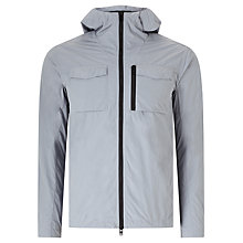 Buy J. Lindeberg Jonah Hooded Crinkle Jacket, Light Blue/Grey Online at johnlewis.com