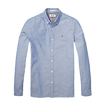 Buy Hilfiger Denim Chambray Long Sleeve Shirt, Mid Indigo Online at johnlewis.com